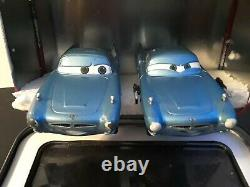 2 Disney Pixar Cars Die Cast Finn McMissile With Collector Tin Watch Case