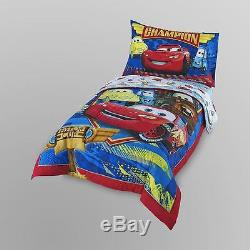 4pc Cars Toddler Bed Comforter Sheets Pillow Case Disney Bedding