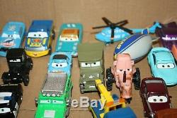 50+ Disney Cars diecast lot with carry case