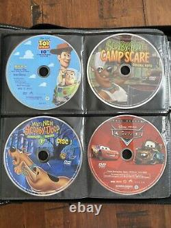 73 Loose Assorted DVD Movies Zippered Travel Car Case Children & Family Disney