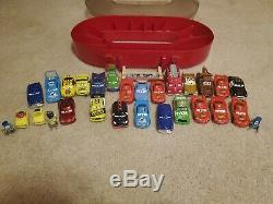 Cars 1 & 2 Race Case and Track Toys Die Cast Boost 28pc Lot Disney