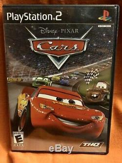 DISNEY PIXAR CARS PS2 video game, case & manual (Sony PlayStation 2, 2006)