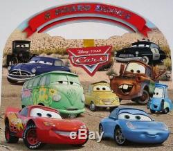 DISNEY PIXAR CARS SET OF 8 BOARD BOOKS WITH TAKE-ALONG CASE Hardcover NEW