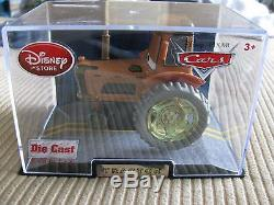 DISNEY Store Cars Tractor die cast in collectors case first release
