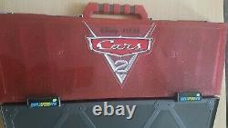 Disney Cars 2 Diecast Car Carry Case Trolley VERY RARE Fan Play and Display