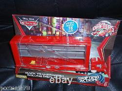 Disney Cars 2 Micro Drifters MACK TRANSPORTER Rolling case no cars