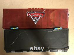 Disney Cars 2 Play and display storage case Travel Briefcase. Holds 40 Cars