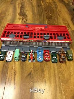 Disney Cars 2 World Grand Prix Race Launcher, Storage & Carry Case + 10 Vehicles