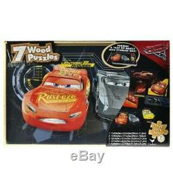 Disney Cars 7pk Wood Puzzle In Wood Storage Box CASE OF 42