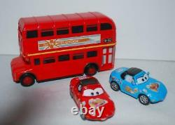 Disney Cars Lot Vehicles Mack Truck King Red Professor Z Bus Case Pit Crew