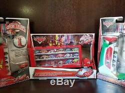 Disney Cars Pixar Lot Of Micro Drifter Cars With Carry Case Launchers
