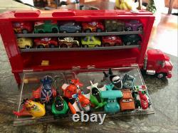 Disney Cars Planes Micro Drifters With Mack Storage Case Huge Lot Excell Cond