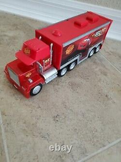 Disney Cars Squinkies with Mack Truck Hauler Squinky Carrier Case