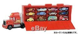 Disney Cars TOMICA Let's make lots! Large Mac Cars 3 types Collection Case