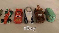 Disney Cars and Cars 2 collection set with Travel case storage track stand lot