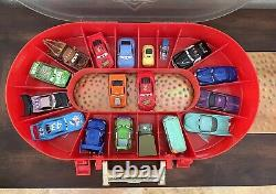 Disney Pixar CARS Race Case and Track COMPLETE Inc ALL 16 Matching Cars (plus 2)