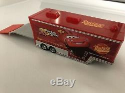 Disney Pixar CARS Supercharged race Case 16 vehicle and portable Track Set Used