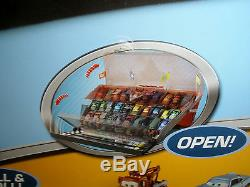 Disney Pixar Cars 2 Fan Stands Play N Display Case World Grand Prix holds 40 NWT