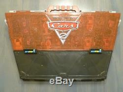Disney Pixar Cars 2 Fan Stands Play-n-Display Carry Case with40 Vehicles Free Ship