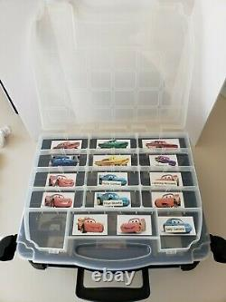 Disney Pixar Cars Carrying Case Customized 2006 Holds 72 cars Preowned