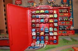 Disney Pixar Cars Lot of 46 Loose Diecast with Carrying Case