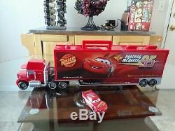 Disney Pixar Cars Mack Carrier Case With Diecast Mcqueen. 24 Long Mack