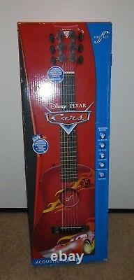Disney Pixar Cars Movie First ACT ACOUSTIC GUITAR In Box WithCase 6 Cords 1 Pick