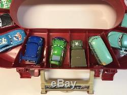 Disney Pixar Cars Oval Race Carrying Case & Track + 15 Toy Cars