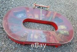 Disney Pixar Cars Oval Race Portable Storage Carrying Case Track 17 Diecast Cars