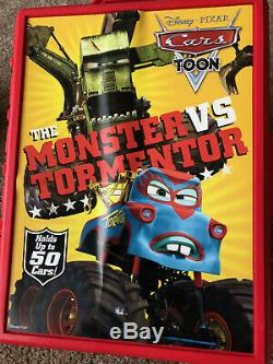 Disney Pixar Cars Toon Storage Case (Holds up to 50 Cars) Monster VS Tormentor