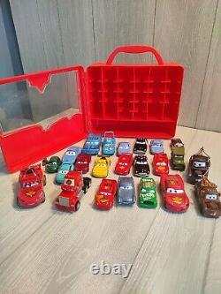 Disney Pixar Cars mixed Diecast Lot of 23 with carry case