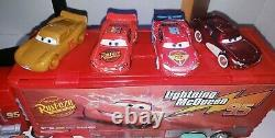 Disney Pixar Diecast Cars Lot Includes Cases, Cars, and Planes