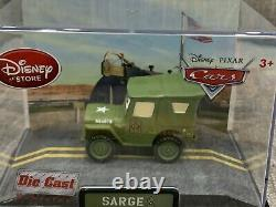 Disney Store Cars 1 Die Cast Collector Case Sarge 143 Scale NEW