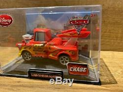 Disney Store Cars Chase Diecast Lightning Mater In Case NEW