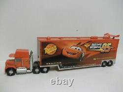 Disney Store Cars Talking Mack Transporter Truck Carry Case with Cars Storage