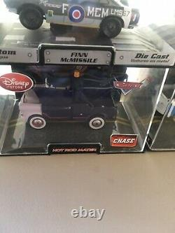 Disney Store Die Cast chase Toy Cars & Trucks 11 in plastic cases