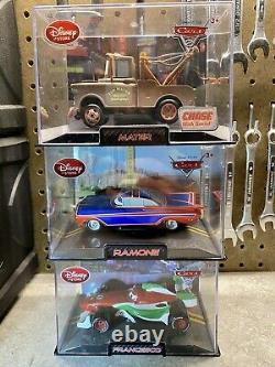 Disney Store/Pixar CARS DieCast In Collector Acrylic Case 143 (Lot Of 12) Chase