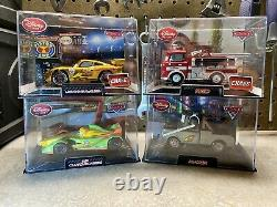 Disney Store/Pixar CARS DieCast In Collector Acrylic Case 143 (Lot of 4) Chase