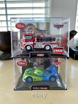 Disney Store/Pixar CARS DieCast In Collector Acrylic Case 143 (Lot of 6) Chase
