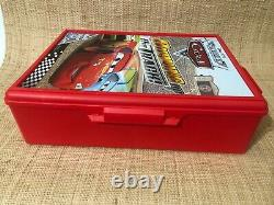 Disney The World Of Cars Burning Up The Track Car Holder Carry Carrying Case Red
