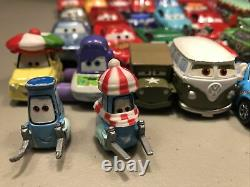 Huge Lot Of 37 Disney Cars Diecast Cars And Case Pixar Some Hard To Find