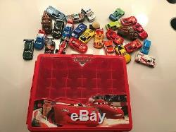 Huge Lot of Disney/Pixar Cars 155 Scale 26 Diecast Vehicles in New Storage Case