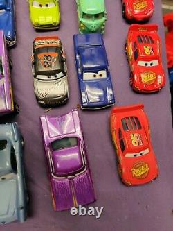 LOT Of 42 Disney Pixar Cars Mostly Die Cast Some Plastic With Cars Case