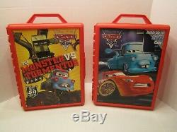 Lot of 2 Disney Cars Toon Carry Case Holds Up To 50 Cars (Cars Not Included)