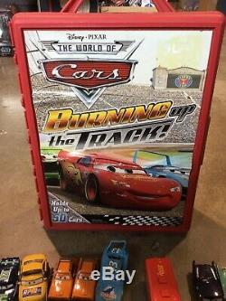Lot of 50+ Disney Cars with Carrying Case Rare Lightning McQueen Mater Race Cars