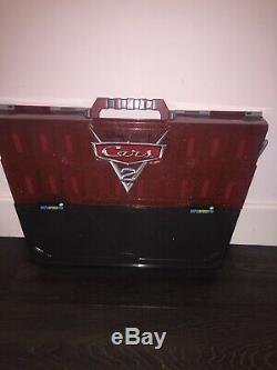 Mega Rare Disney Cars 2 Carry Case, Fan Stand, Play And Display