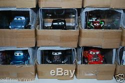 NEW DISNEY STORE LOT of 37 CHASE Cars, display case, 143 scale diecast, Limited
