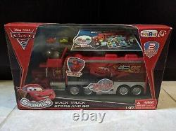 New Disney Squinkies Cars 2 Mack Truck Hauler Case Store and Go Carrier