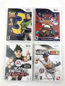 Nintendo wii games lot of 16 games/cases Disney Toy Story Cars NHL Football EUC