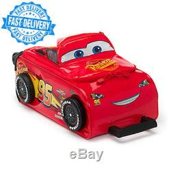 Official Disney Cars 3 Lightning McQueen Rolling Luggage Case Trolley